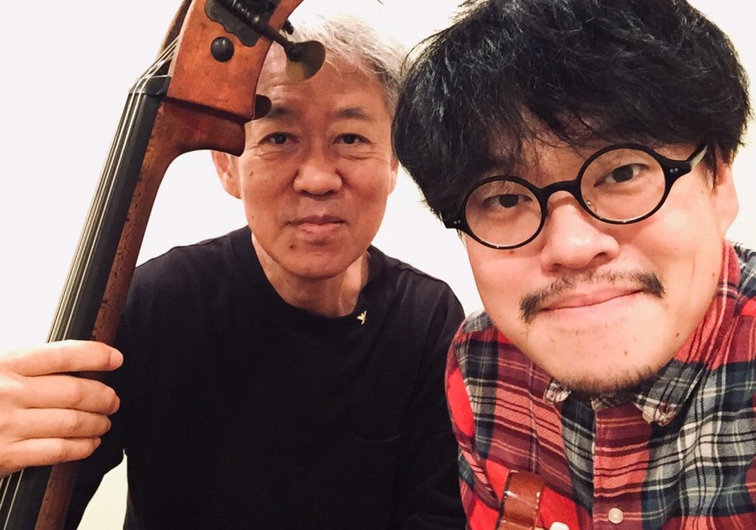今週末10/28(日 15時 坂井紅介さんとデュオです。リハでした。